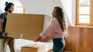 cardboard box moving