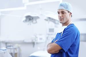 a surgeon wearing surgery uniform